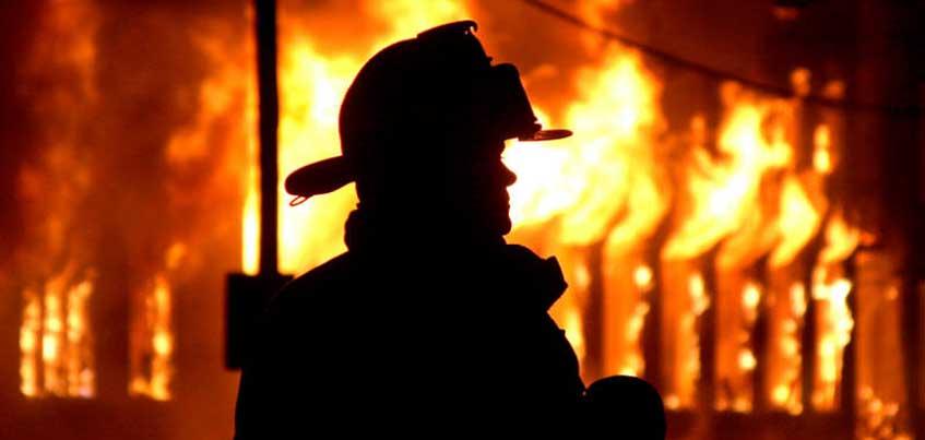 В Ижевске в городке Металлургов случился пожар