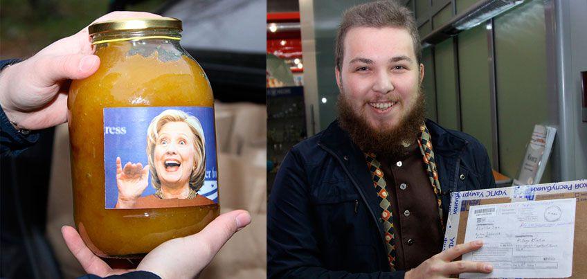 Житель Удмуртии отправил мед Хиллари Клинтон