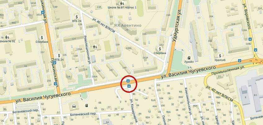 На улице Чугуевского в Ижевске станет на один пешеходный переход меньше
