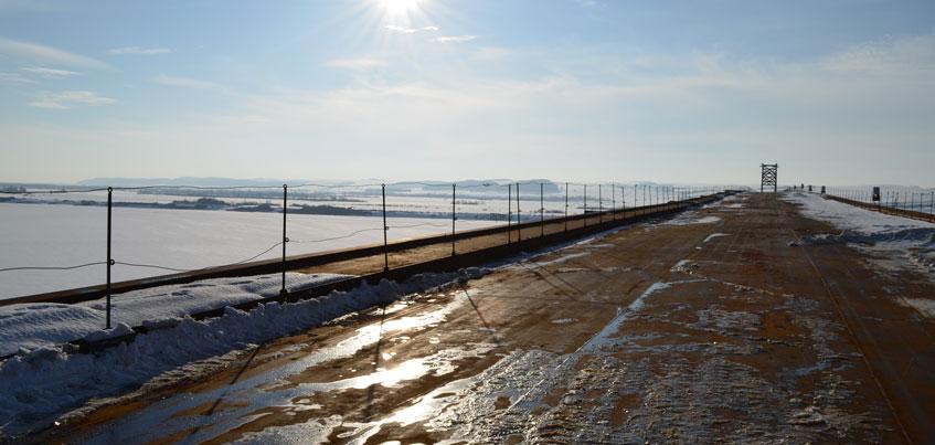 На мосту через Каму в Удмуртии не завершены укрепительные работы
