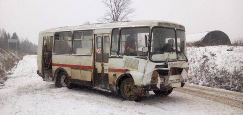 Автобус «ПАЗ» съехал в кювет на трассе в Удмуртии