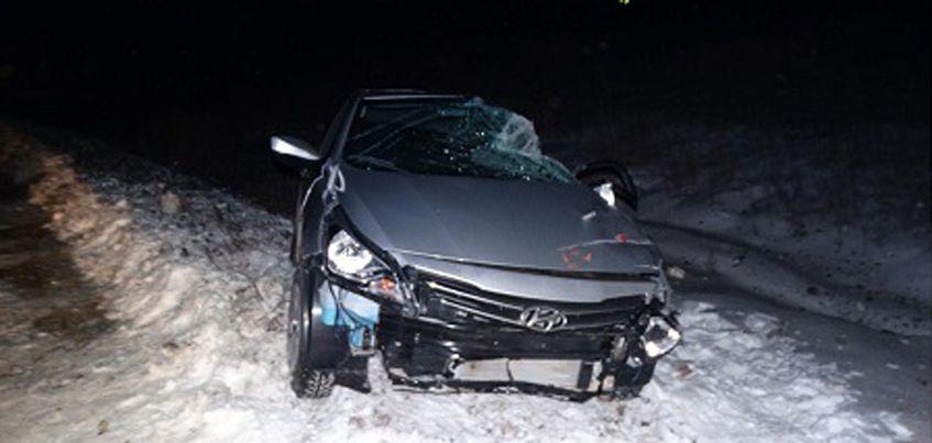 В Удмуртии легковушка столкнулась с фурой,  не уступив дорогу