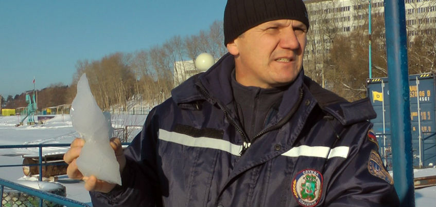 В Ижевске спасли рыбака, провалившегося под лед