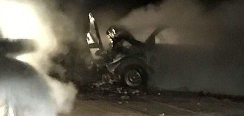 В результате ДТП мужчина из Удмуртии сгорел в своем автомобиле