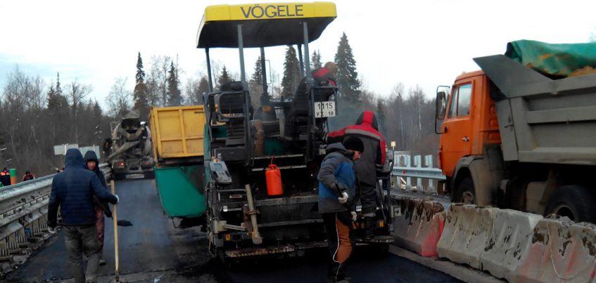 В Удмуртии завершили ремонт на мосту перед Селычкой