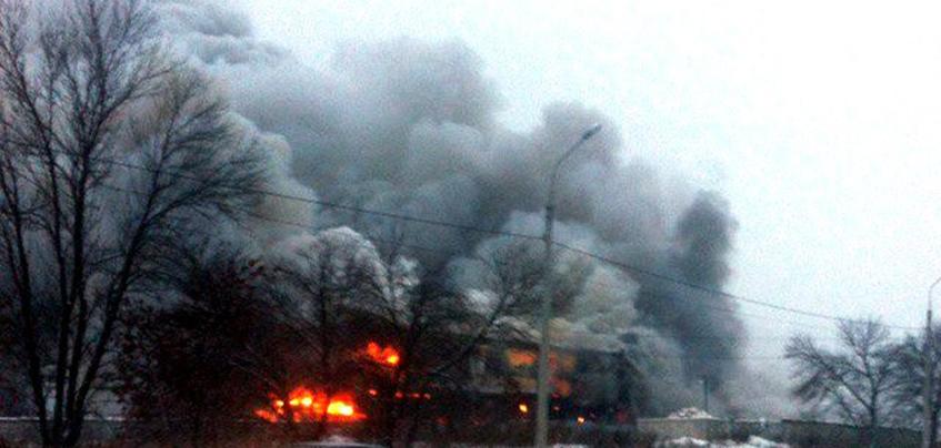 Пожар на Воткинском шоссе в Ижевске локализован