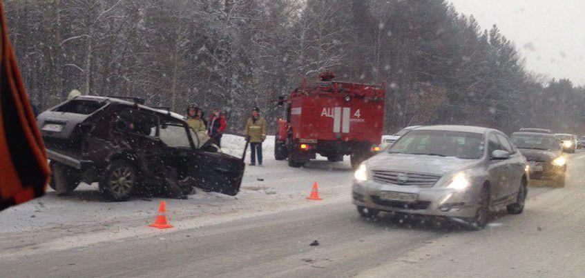 В Удмуртии произошло ДТП с участием четырех машин на Славянском шоссе