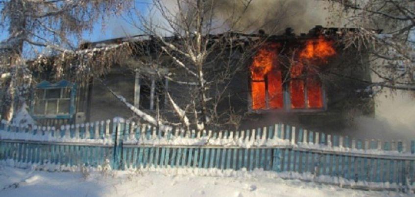 При пожаре жилого дома в Игринском районе Удмуртии сгорело все имущество