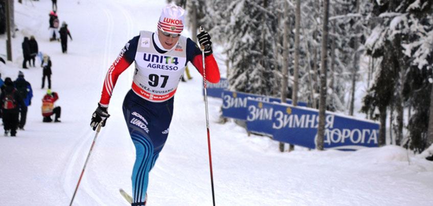 Дмитрий Япаров выиграл бронзу на этапе кубка России по лыжным гонкам