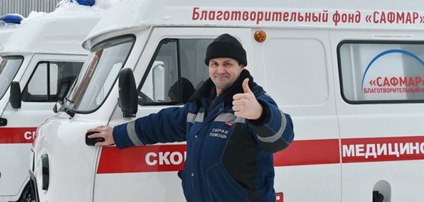 Десять районов Удмуртии получили новые автомобили «Скорой помощи»