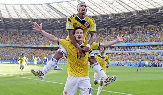 ЧМ-2014: колумбийцы с крупным счетом обыграли греков