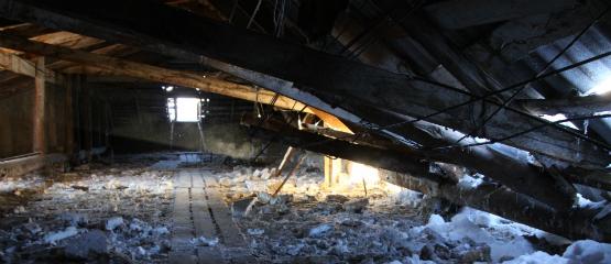 В Ижевске восстановили теплоснабжение в доме, в котором накануне рухнула кровля