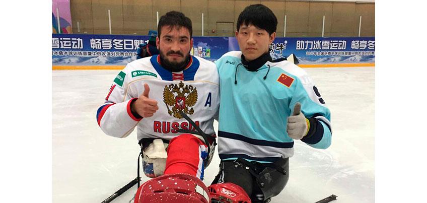 Следж-хоккеист из Удмуртии Владимир Каманцев провёл мастер-класс для китайских вратарей