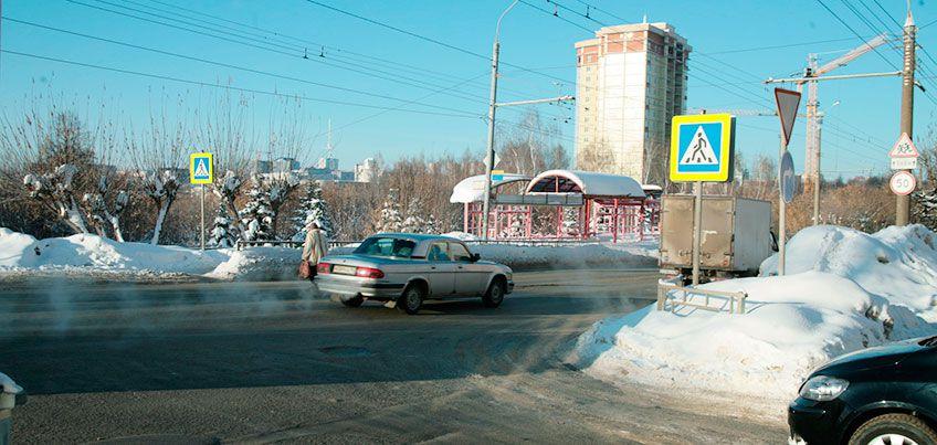 В Ижевске уберут пешеходный переход на улице Горького