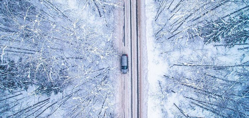 Фотограф из Ижевска сделал снимки  зимнего пейзажа Удмуртии с высоты птичьего полета