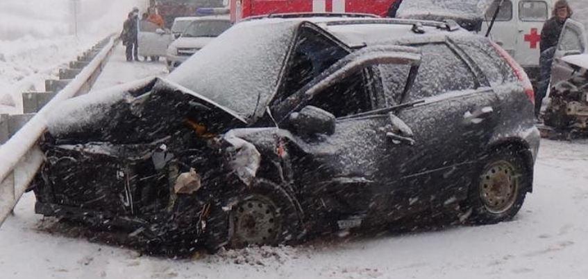 В ДТП на трассе «Игра-Глазов» пострадали 7 человек