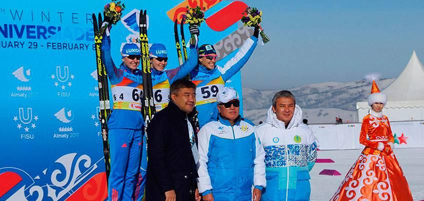Лыжница из Удмуртии Лилия Васильева выиграла вторую медаль на Универсиаде в Казахстане
