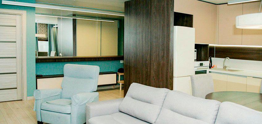 Квартира недели: как объединить гостиную, кухню и коридор