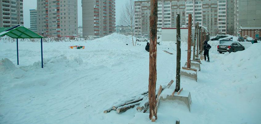 В Ижевске на улице Автозаводской строится здание детского сада