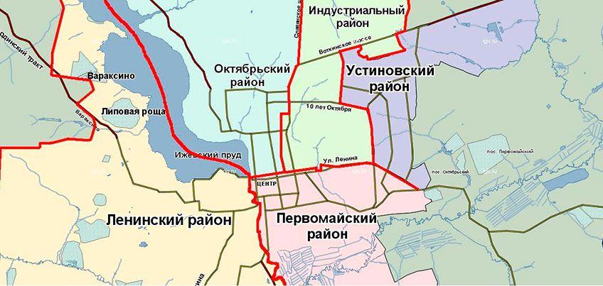 Депутаты предложили разбить Ижевск на три района вместо пяти