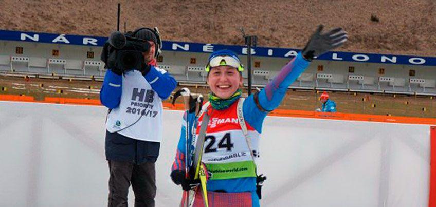 Можгинская биатлонистка Валерия Васнецова выиграла пасьют на юниорском первенстве мира