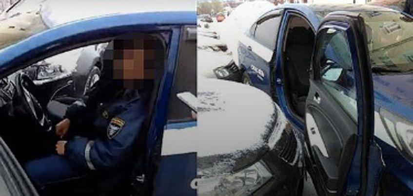 В Ижевске на улице Максима Горького водитель иномарки зацепил четыре авто