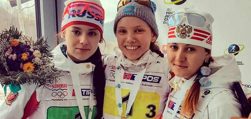 Биатлонисты из Удмуртии выиграли золото и серебро в эстафете на Первенстве Мира