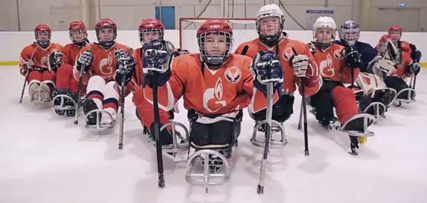 Видео: Юные следж-хоккеисты поддержали команду «Ижсталь» перед очередной игрой