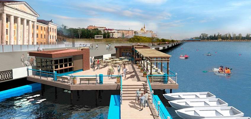 Какой будет лодочная станция на Ижевском пруду?