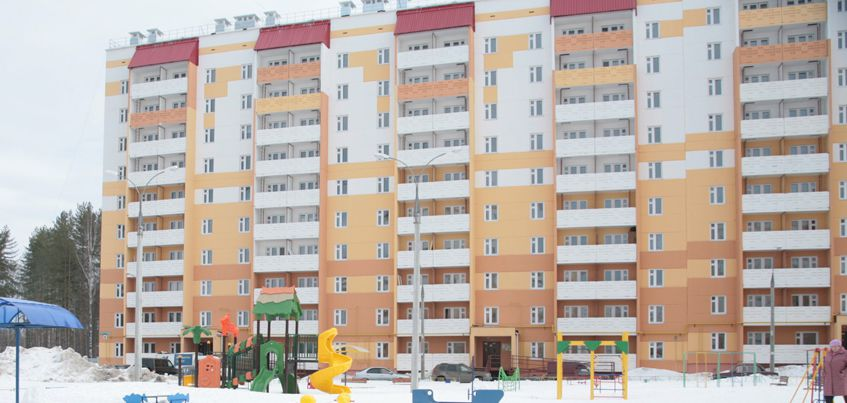 В Удмуртии за январь  2017 года построено 856 квартир