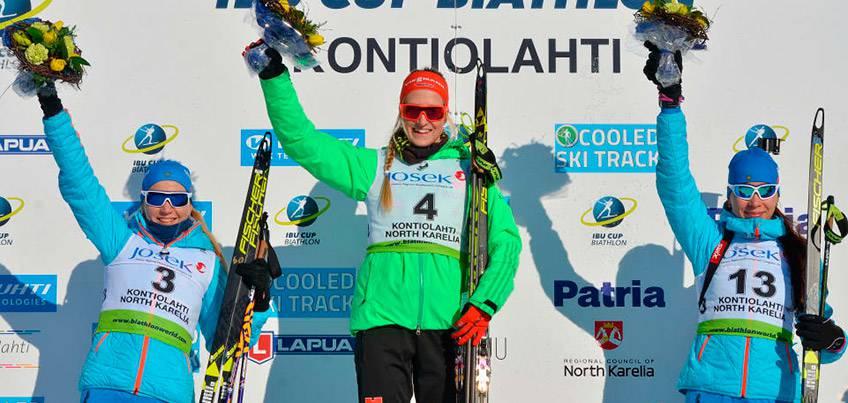 Ульяна Кайшева выиграла бронзу в гонке преследования на этапе Кубка Европы