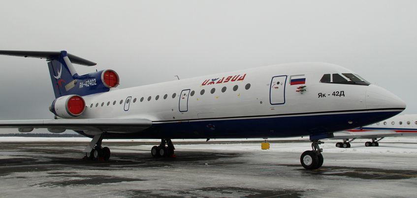 Компания «Ижавиа» пополнила авиапарк новым «ЯК-42Д»