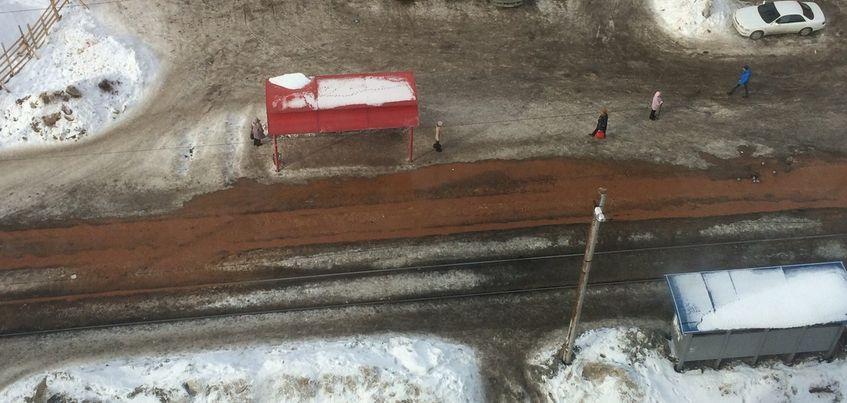 В Ижевске затопило улицу 7-ю Подлесную