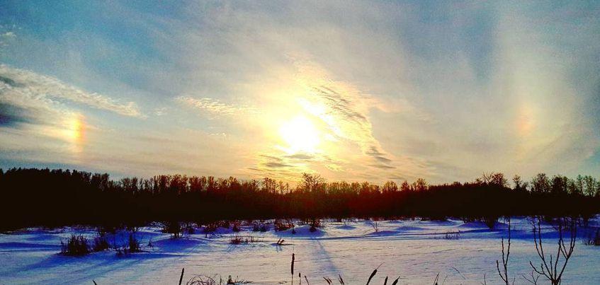 Ижевчане снова могли наблюдать  зимнее явление «Гало»