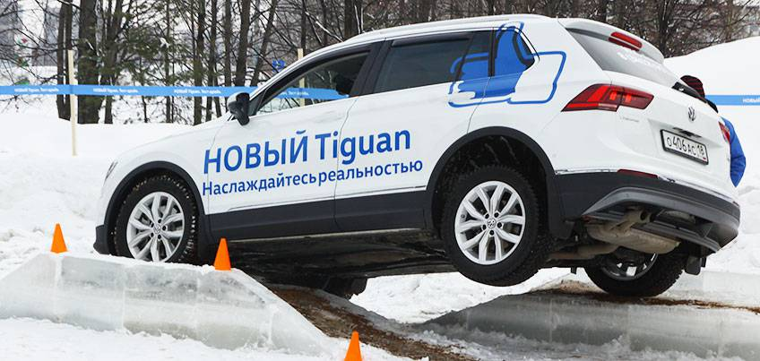 Новый Volkswagen Tiguan покорил ледяную трассу и сердца ижевчан