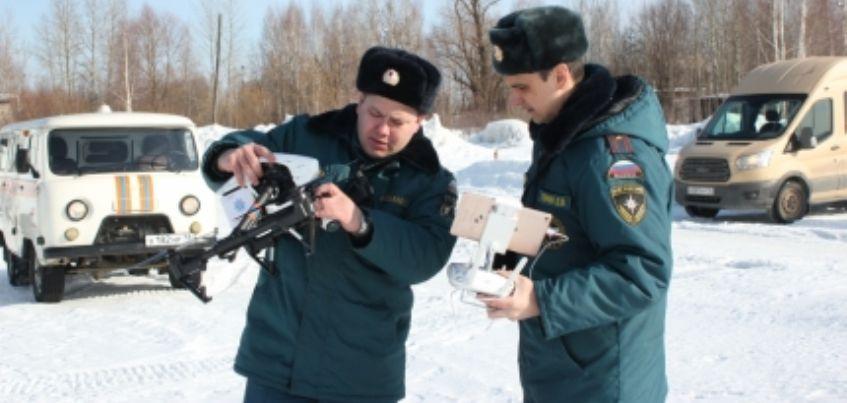 Сотрудники МЧС Удмуртии обследовали реку Иж с помощью беспилотников