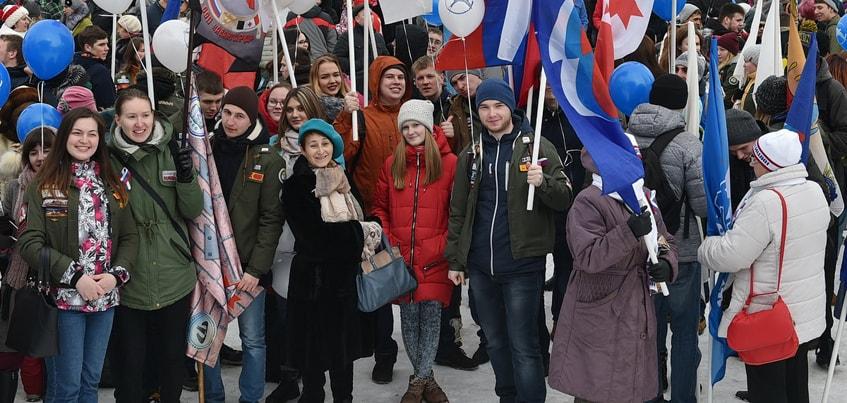 Сотни ижевчан приняли участие в патриотическом фестивале «Весна России»