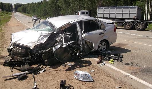 На Воткинском шоссе в Ижевске в ДТП погиб мужчина