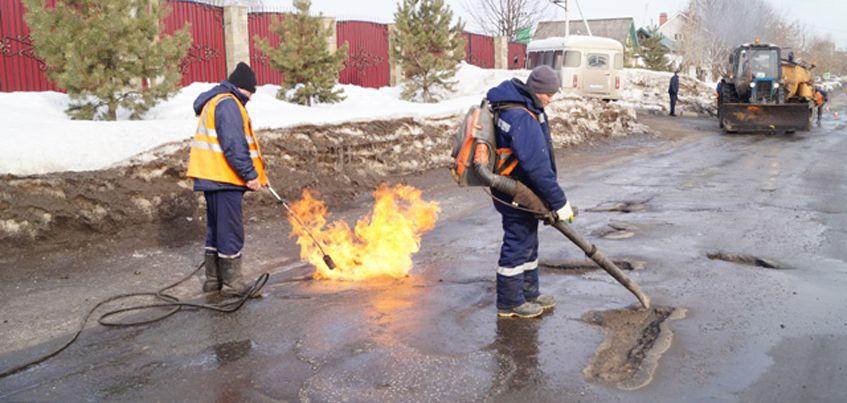 С начала марта на дорогах Ижевска устранили 1,5 тысячи  квадратных метров аварийных дефектов