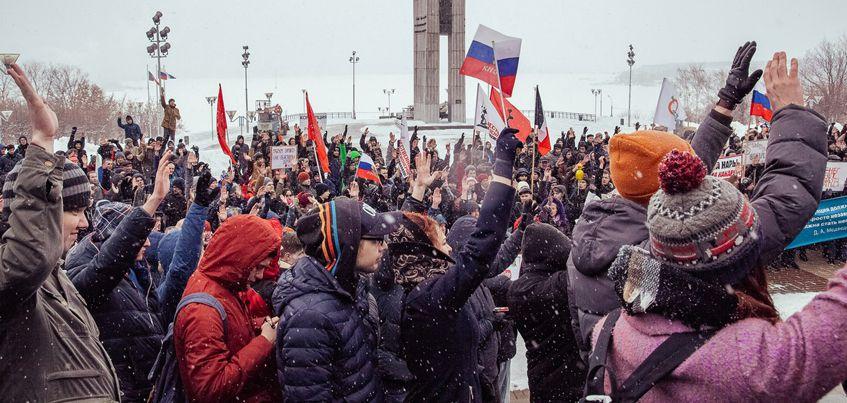 МВД: В антикоррупционном митинге в Ижевске приняло участие 500 человек