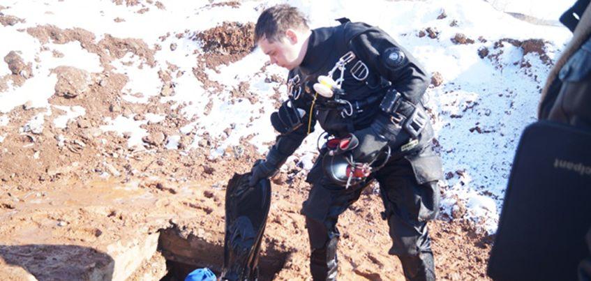 В Ижевске водолазы начали обследовать затопленный коллектор на улице Щедрина