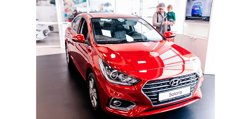 В Ижевске в дилерском центре HYUNDAI-КОМОС-Авто презентовали Новый Hyundai Solaris