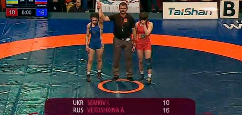 Спортсменка из Удмуртии стала победительницей первенства Европы по вольной борьбе