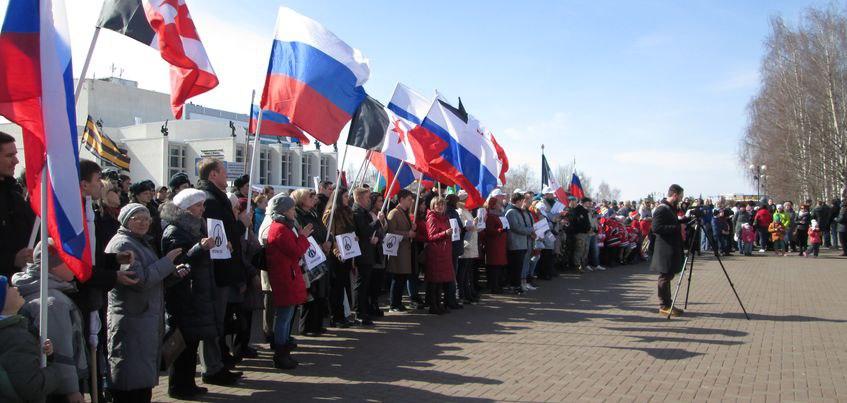 Тысячи ижевчан стали участниками акции «Питер, мы с тобой»