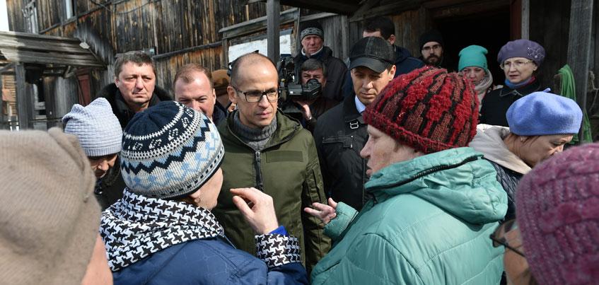 В поселке Симониха после приезда врио Главы Удмуртии Александра Бречалова началась перепись жителей