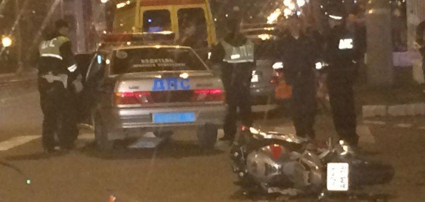 В Ижевске произошло ДТП с мотоциклистом