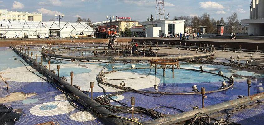 На Центральной площади Ижевска 8 мая начнет работать музыкальный фонтан