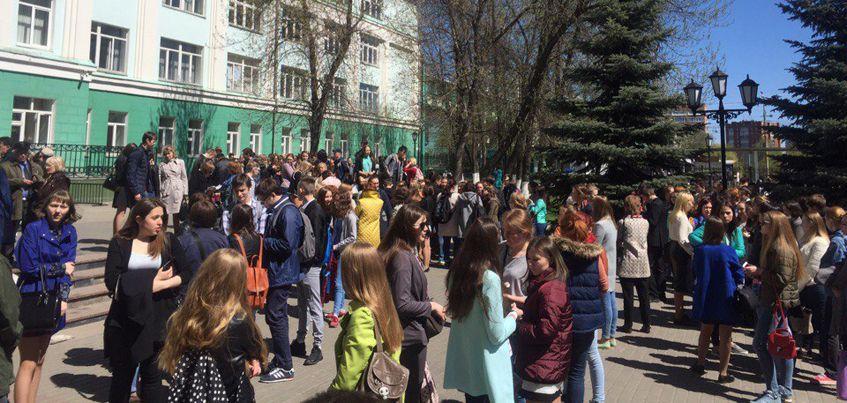 В Ижевске из второго корпуса УдГУ эвакуировали студентов
