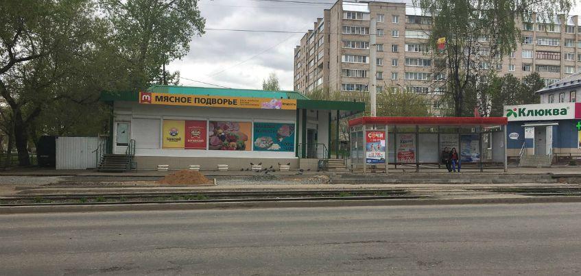 На улице Авангардной в Ижевске начали благоустраивать площадку около остановки