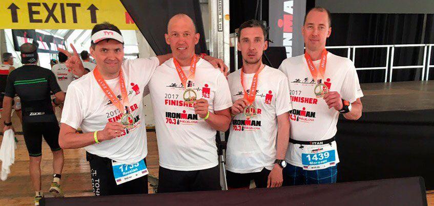 Четыре ижевчанина приняли участие в соревнованиях Ironman 70.3 в Барселоне